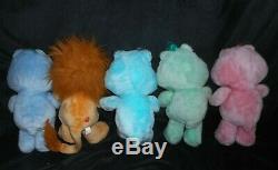 10 Vintage Kenner Care Bears Stuffed Animal Plush Lot Cousins Birthday Grumpy