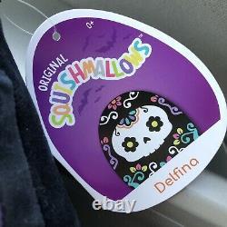 12 DELFINA Halloween Sugar Skull Day of Dead Calavera Squishmallow Plush Toy