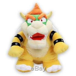 (1244) Bowser 15 Large Stuffed Plush Toy Official Little Buddy USA Super Mario