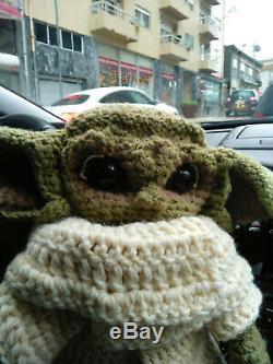 16 Baby Yoda Plush Life Size Hand Crocheted Baby yoda knit The Kid Fan Art