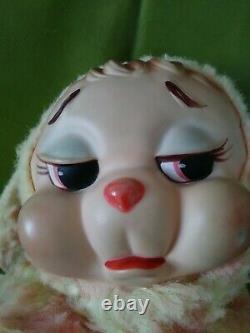 1950s Vintage Crying Rushton Company Rubber Face Bunny Rabbit Plush