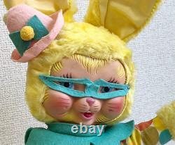 1950s Vintage Rare The Rushton Company Rubber Face EASTER Bunny Rabbit Plush