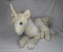 1980's The Last Unicorn Plush Horse 15 Laying Down Vintage Stuffed Animal Toy