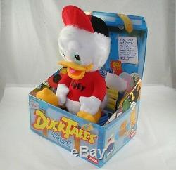 1980s Playskool Huey Duck Tales plush stuffed animal toy Walt Disney's with box