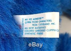 1986 MY PET MONSTER Vintage 24 Plush Doll Toy Original AmToy Vintage Stuffed