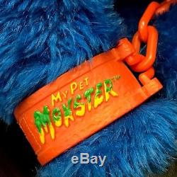 1986 MY PET MONSTER vintage plush original toy with Hand Cuffs Amtoy shakles
