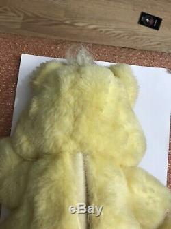 1995 Fantasy Twinkle Bear Yellow Plush-Works