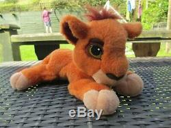 1998 Mattel Disney The Lion King Simba's Pride KOVU PURRING Soft Plush Toy