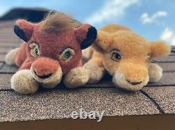 1998 Vintage Disney Store The Lion King Simbas Pride Kovu and Kiara plush