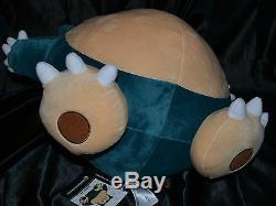 20 Jumbo Snorlax # 143 Official Pokemon Center Plush Dolls Toys Stuffed Animals