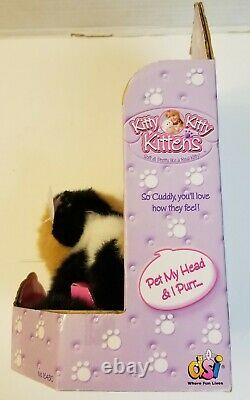 2001 DSI Kitty Kitty Kittens Patches Plush Toy, NEW IN BOX With Tag and Bow