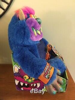 2001 My Pet Monster NIB Talking Sounds Plush Stuffed Animal Handcuffs