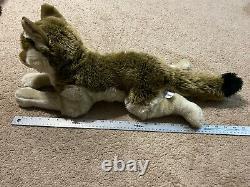 2007 FAO Schwarz Plush wolf Vintage and Rare