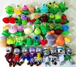 45Pcs/Set Plants Vs Zombies Soft Animal Stuffed Plush Toys Most Complete Set