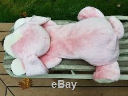 48 Rare Animal Alley Toy Darby Pink Dog Jumbo Large Stuffed Puppy Plush Pillow