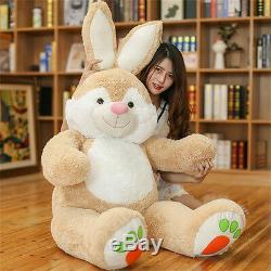 59'' Giant Big Bunny Rabbit Plush Toys Soft Tillow Stuffed Animals Doll Gift US