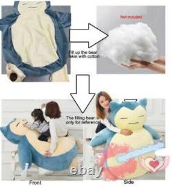 59 Plush Anime Stuffed Animal Dolls Plush Toy Snorlax Pillow Bed Only Zipper
