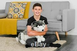 60cm Large Storm Lying Cute Stuffed Husky Dog Teddy Super Soft Plush Toy Gift