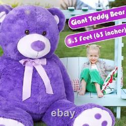 63'' Giant Teddy Bear Plush Toy Stuffed Animals Gift for Girlfriend Kid Children