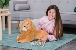 65cm Lion Soft Toy Teddy Plush King Large Stuffed Present Birthday Gift Simba