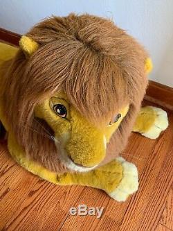 90s Vintage Disneys The Lion King Large Adult Simba Plush 40 Douglas Co. HUGE