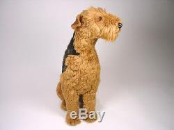 Airedale Terrier by Piutre, Hand Made in Italy, Plush Stuffed Animal NWT