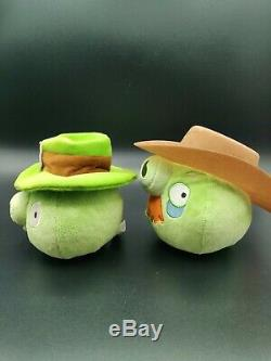 Angry Birds Plush St Patrick Cowboy Hat Pigs 5 Lot of 2