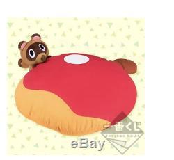 Animal Crossing Ichiban Kuji B Award cushion Tsubukichi plush Stuffed toy JAPAN