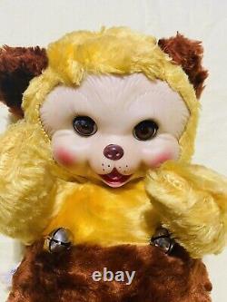Antique Gund Rubber Face Plush Bear Sleepy Eyes