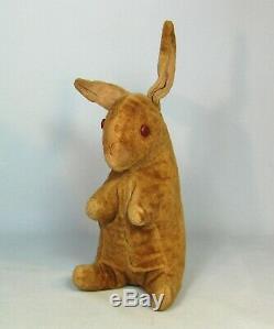 Antique Old Velvet Velveteen Rabbit Bunny Plush Stuffed Animal Steiff 10