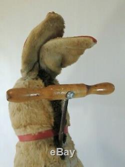 Antique VTG Stuffed Animal Plush Riding Donkey Straw Toy Halloween Decor Mohair