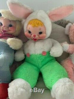 Antique Vintage Retro Rushton Rubber Face Plush Stuffed Rabbit / Bunny