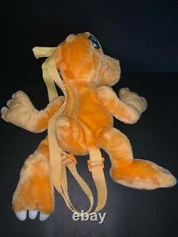 BANDAI Digimon Agumon Plush Backpack 17 Stuffed Toy Dinosaur Orange Animal 2000
