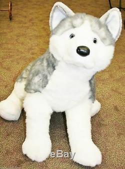 BARKER plush 30 LARGE HUSKY stuffed animal DOG Douglas Cuddle