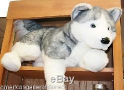 BARKER plush 30 LARGE HUSKY stuffed animal DOG by Douglas large