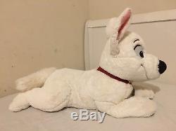 BOLT 30 Jumbo Disney Store Plush Stuffed Toy White Dog Laying Down RARE HTF