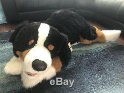 BRAND NEW Giant E & J Bernese Mountain Dog Stuffed Plush, Over 60 Long
