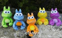 Banjo-Kazooie Jinjo Plush Set 6 Plushie Figure Orange Green Yellow Purple Blue