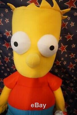 Bart SIMPSON Rare New w Tags 4 Foot Tall Life Size Plush Stuffed Animal Toys