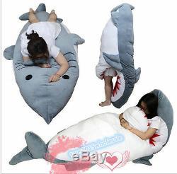 Big Shark Sleeping Bag Beanbag Sofa Bed Plush Toys Doll Cushion Floor Giant Huge