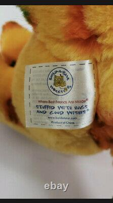 Build A Bear Jack O Lantern Pumpkin Orange Cat Plush Stuffed Animal