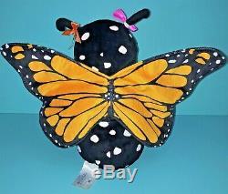 Build A Bear Monarch Butterfly Wings 17 Plush St. Louis Zoo Stuffed Animal BAB