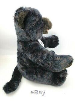 Build a Bear Black Jaguar St. Louis Zoo 15 in Plush Ret Green Eyes Stuffed Animal