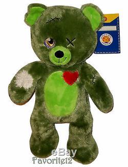 Build a Bear Halloween Zombear Green Zombie Teddy 16in. Stuffed Plush Toy Animal