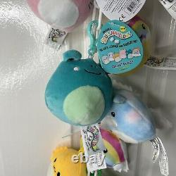 Bundle Lot Of 12 Squishmallows 3.5 Inch Clip On Plush Includes Hang Chain Rare