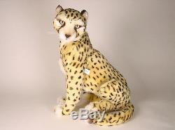 Cheetah Cub by Piutre, Hand Made in Italy, Plush Stuffed Animal NWT