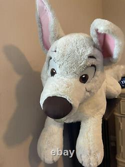 Disney Bolt Plush Laying Down Large 32 Dog RARE Stuffed Animal NWT