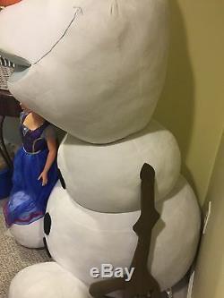 Disney Frozen HUGE 6 ft Stuffed Plush Anna Elsa Friend My Size GIANT Large Olaf