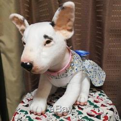 Dog Movable Plush Toy Stuffed Animal Miniature Bull Terrier Unused Rare F/S