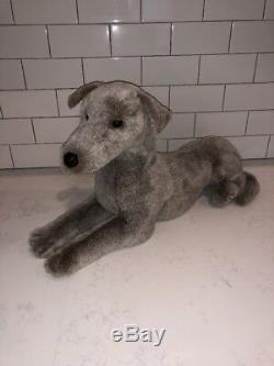 Douglas Plush Silver Greyhound NWT, Mint Condition, Very Rare